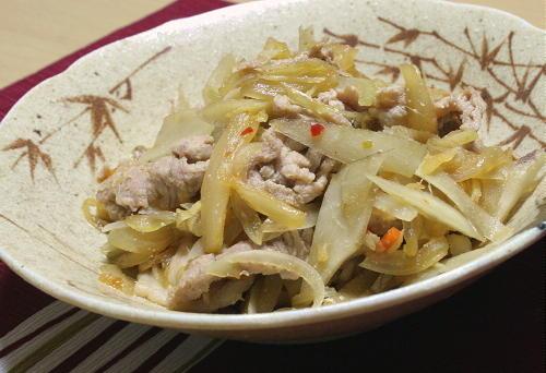 今日のキムチ料理レシピ:豚キムチごぼう