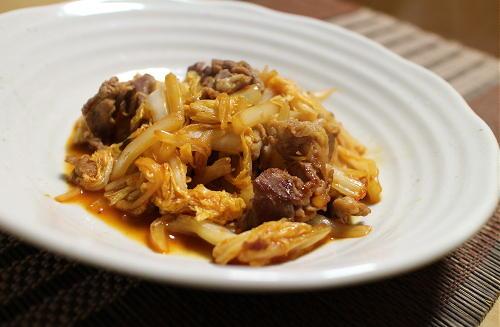 今日のキムチ料理レシピ:白菜のピリ辛甘酢炒め