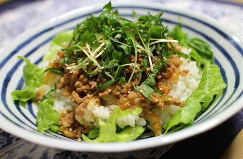 今日のキムチレシピ:ピリ辛ひき肉御飯