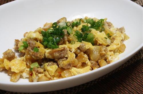 今日のキムチ料理レシピ:豚ひき肉とキムチの卵炒め
