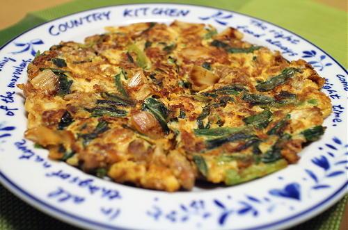 今日のキムチレシピ:豚ひき肉とキムチの卵焼き