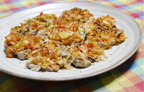 今日のキムチ料理レシピ:豚肉のネギキムチ焼き