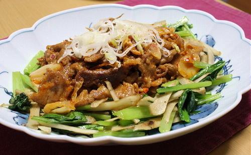 今日のキムチ料理レシピ:豚キムチマヨ炒め