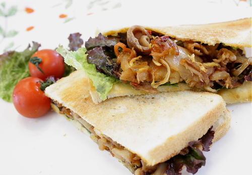 今日のキムチ料理レシピ:豚キムチサンド