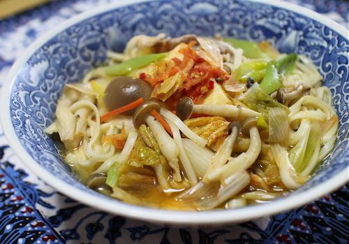 今日のキムチ料理レシピ:豚ねぎキムチ稲庭うどん