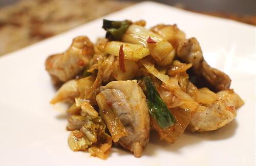 今日のキムチレシピ:豚肉とねぎのキムチ炒め