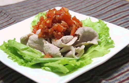 今日のキムチ料理レシピ豚しゃぶみょうがキムチドレッシング: