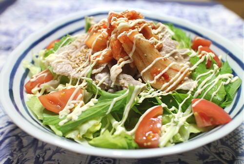 今日のキムチレシピ:豚しゃぶキムチサラダ