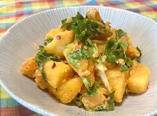 今日のキムチレシピ:セロリと大根キムチ入りポテトサラダ