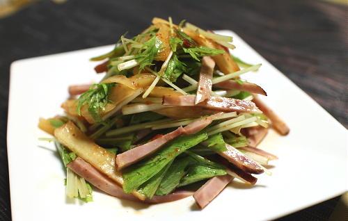 水菜と大根キムチのサラダレシピ