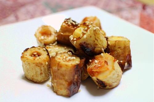 今日のキムチレシピ:キムチチーズちくわの甘辛炒め