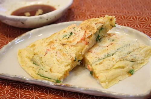 今日のキムチ料理レシピ:キムチチジミ