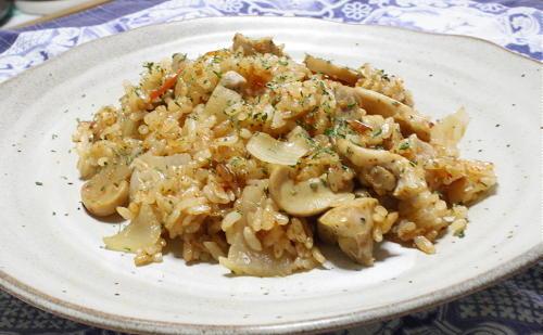 今日のキムチ料理レシピ:チキンキムチライス