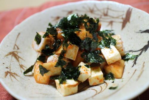 今日のキムチレシピ:ちくわとチーズの大根キムチ和え
