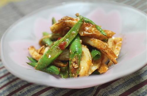 今日のキムチ料理レシピ:ちくわといんげんのピリ辛胡麻和え