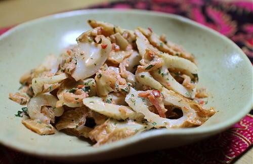 今日のキムチ料理レシピ:ちくわのキムチマヨ和え