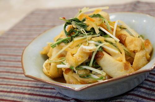 ちくわと水菜のピリ辛煮びたしレシピ
