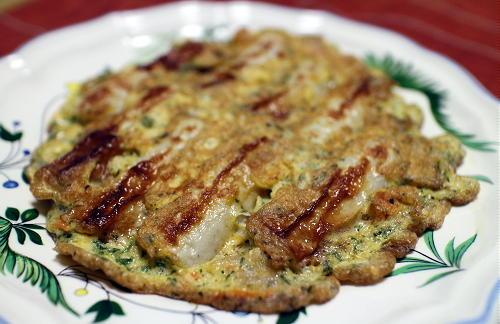 今日のキムチレシピ:ちくわとキムチのピカタ風卵焼き