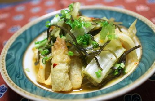 今日のキムチ料理レシピ:白菜とちくわのピリ辛煮