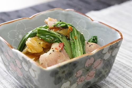 今日のキムチ料理レシピ:青梗菜とキムチの煮びたし