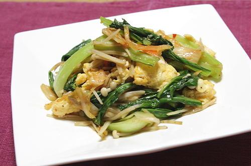 今日のキムチ料理レシピ:炒り卵とキムチの炒めもの