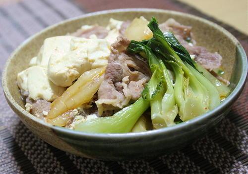 今日のキムチ料理レシピ:キムチ肉豆腐