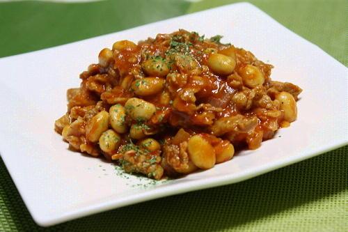 今日のキムチ料理レシピ:キムチの素で作ったチリコンカン