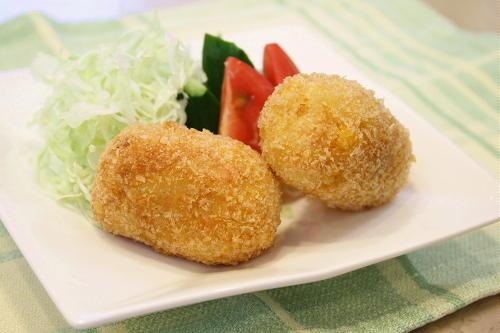 今日のキムチ料理レシピ:コーンキムチコロッケ