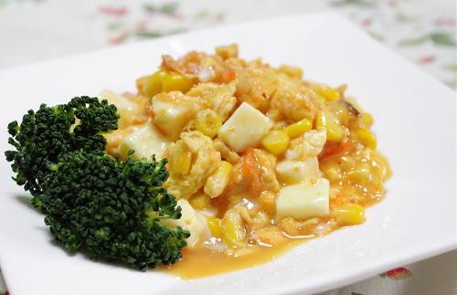 今日のキムチ料理レシピ:キムチ入りスクランブルエッグ