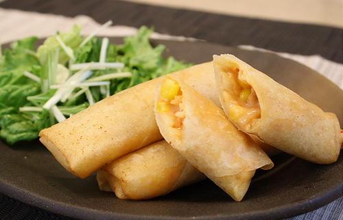 今日のキムチ料理レシピ:キムチクリーム春巻き