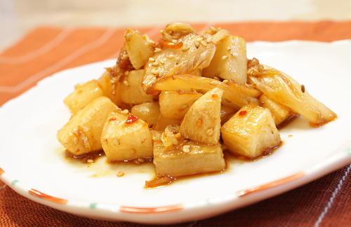 今日のキムチ料理レシピ:大根の甘辛キムチ炒め