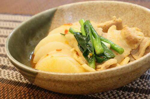 大根と豚ばら肉のキムチ煮レシピ