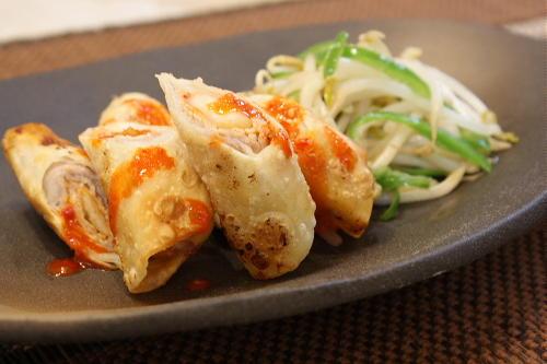大根キムチの豚肉巻きギョウザレシピ