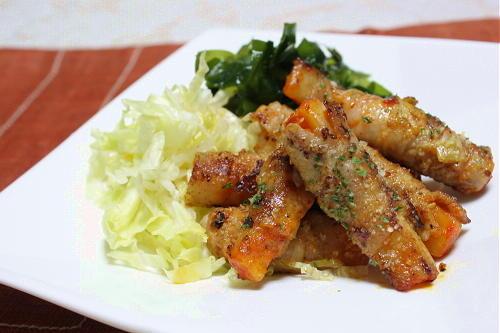 今日のキムチ料理レシピ:大根キムチの豚肉巻き