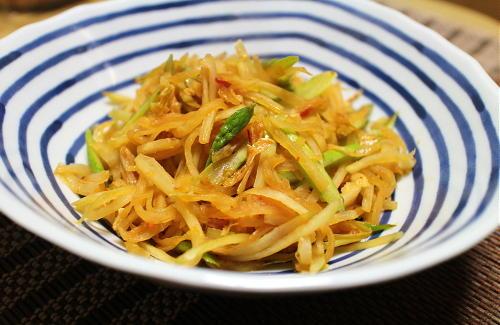 今日のキムチレシピ:大根とキムチのバターきんぴら