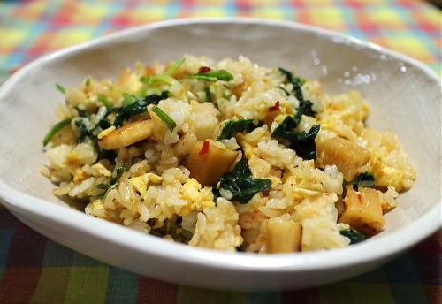 今日のキムチレシピ:大根キムチチャーハン