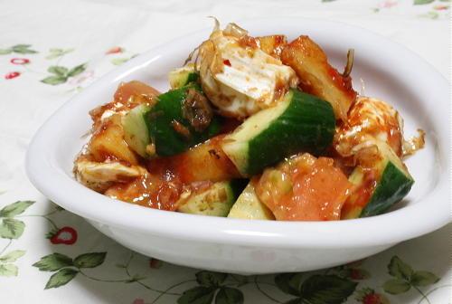 トマトと大根キムチの和風カマンベールチーズ和えレシピ