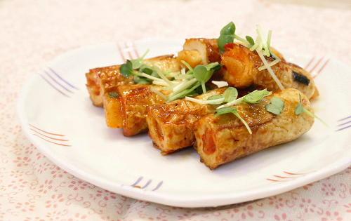 今日のキムチ料理レシピ:キムチちくわの甘辛焼き