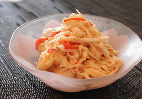 今日のキムチ料理レシピ:大根とキムチのマヨネーズサラダ