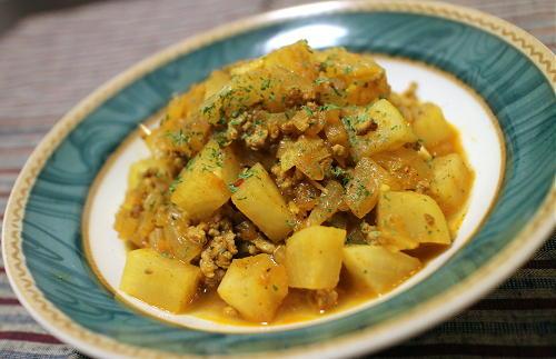 今日のキムチレシピ:大根とキムチのキーマカレー