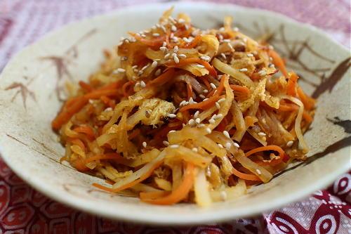 今日のキムチ料理レシピ:大根のキムチきんぴら