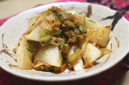 今日のキムチレシピ:大根とキムチのチーズ炒め