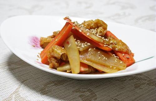 大根とにんじんのピリ辛炒めレシピ