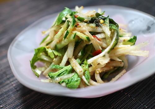 大根と胡瓜のピリ辛サラダレシピ