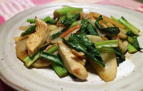 今日のキムチ料理レシピ:大根とキムチのポン酢しょうゆ炒め
