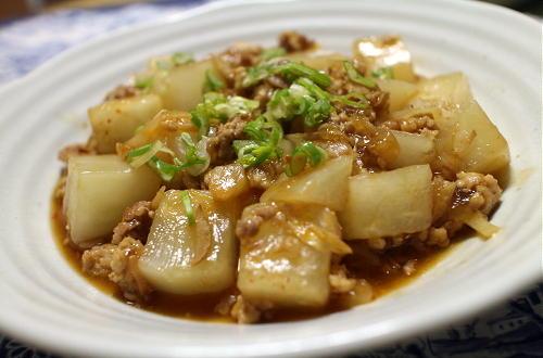 今日のキムチ料理レシピ:大根のキムチ鶏ひきあんかけ