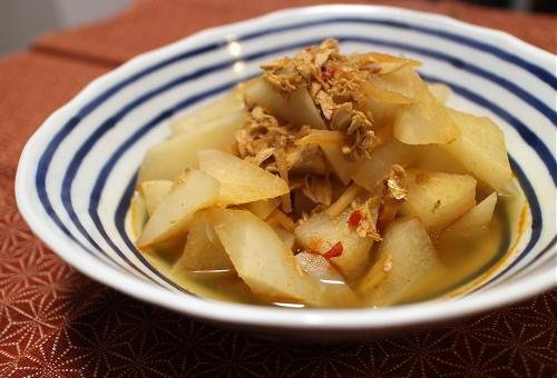 今日のキムチ料理レシピ:大根のピリ辛ツナ煮