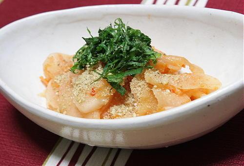 今日のキムチ料理レシピ:大根とキムチの梅和え
