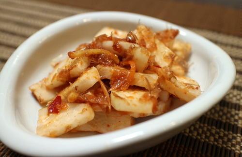 今日のキムチ料理レシピ:大根の梅キムチ和え