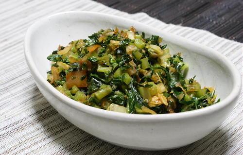 今日のキムチ料理レシピ:大根の葉とキムチのふりかけ